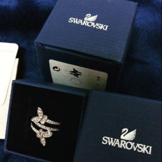 SWAROVSKI 蝴蝶戒指 全新