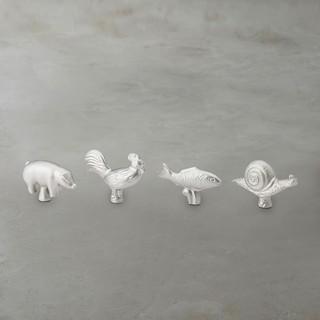 Staub 鑄鐵鍋 動物造型把手 頭飾 鍋蓋頭 現貨 /公雞/鍋牛/兔子