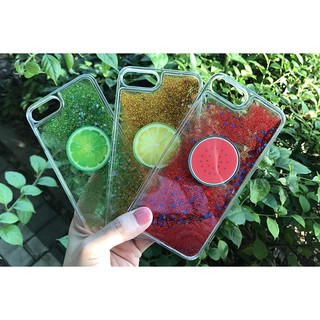 索尼Z5保護套 {買2送1} 夏日小清新水果檸檬流沙 索尼Xperia z5/m4/xp手機殼 e6683 流動液體