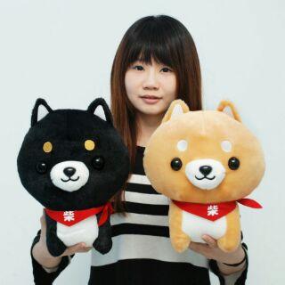 可愛柴犬娃娃~福氣柴犬~柴犬玩偶~黑柴犬娃娃~小狗玩偶~全省宅配