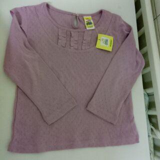 愛的世界粉紫色針織上衣(童裝)