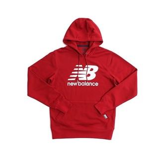 New Balance 男 紅白 LOGO 經典 NB 長袖上衣 大學T 衛衣 帽T AMT63551EEY