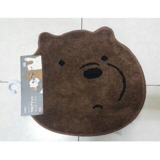 現貨 熊熊遇見你 咱們裸熊 We Bare Bears 造型防滑地墊 腳踏墊 地毯 名創優品MINISO