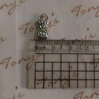 錢袋$吊飾銀飾/蠶絲蠟線/手作材料