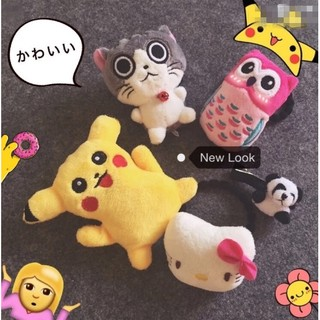 2個一套日本起司猫皮卡丘最新款發圈頭繩皮筋頭飾