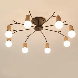北歐時尚創意多頭吸頂燈天女散花吸頂燈客廳燈個性LED大氣燈現代簡約臥室書房燈實木質餐廳燈飾