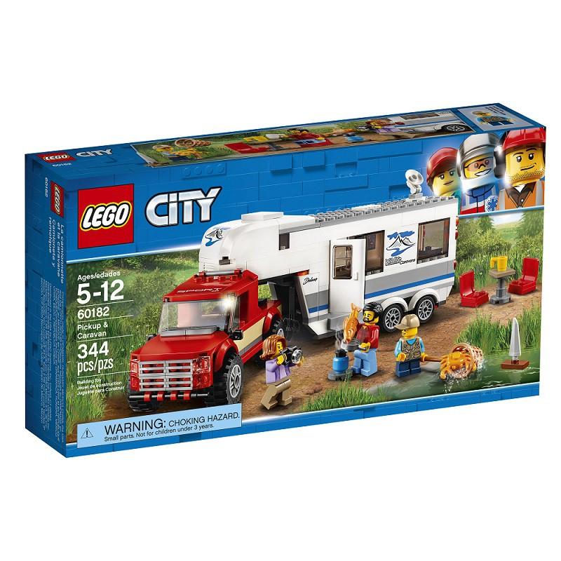 【正品現貨】LEGO樂高 城市系列皮卡車及露營車60182