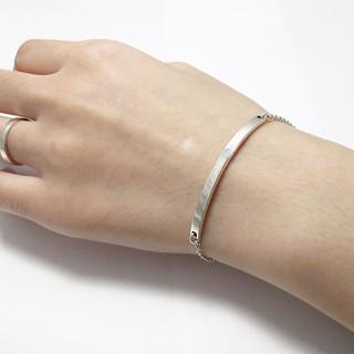 925純銀手鍊-小微笑純銀手鍊