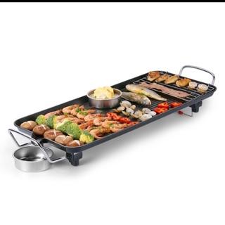 電烤盤 電烤肉機 電燒烤盤 不黏多功能燒烤爐 家用無煙燒烤 鐵板燒 110V電壓專用插頭無需轉接