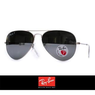 Ray Ban 雷朋 3025 3026 58mm/62mm 水銀彩膜 偏光鏡片 霧銀框 抗UV 太陽眼鏡 墨鏡