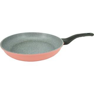 韓國ECORAMIC 鈦晶石頭抗菌不沾鍋28CM 幸福粉色平底鍋28cm 鍋蓋