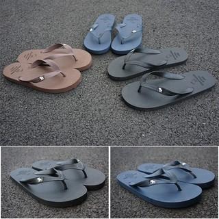 AF小鹿夏季人字拖純色簡約沙灘鞋情侶鞋平底涼拖鞋防滑夾腳軟底
