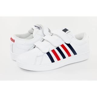 K-Swiss HOKE 3-STRAP CMF女(白藍紅)百搭休閒鞋 95436-139