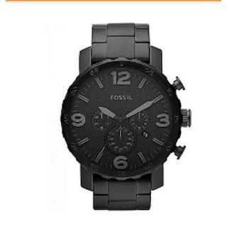 全優坊 現貨 JR1401 FOSSIL手錶 50mm 鋼帶 大錶面 黑色錶盤 三眼 計時