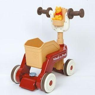 迪士尼 維尼兩用幼兒車 學步車/滑步車