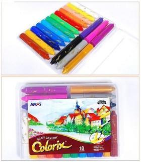 大量現貨 韓國 空運來台 AMOS 18色 水彩 蠟筆 Made in Korea 非美國 彩虹編織器 彩虹橡皮筋