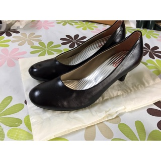 素面黑色高跟鞋(尺寸24.5)