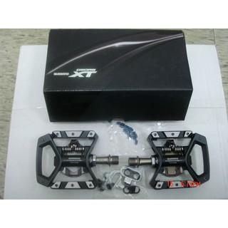 全新盒裝 SHIMANO XT PD-T8000 登山旅 行車卡踏 止滑踏板 兩用SPD卡踏 含扣片