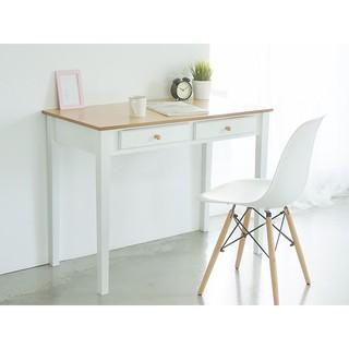 桌子 工作桌 辦公桌 書桌 化妝桌 電腦桌【I0145】典雅雙抽100cm電腦桌 MIT台灣製