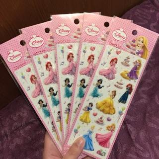 Disney迪士尼公主貼紙 美女與野獸 白雪公主