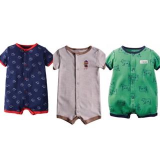 美國卡特短袖童裝春夏男寶寶前釦哈衣連身衣兔裝男童幼童兒童包屁衣連身裝