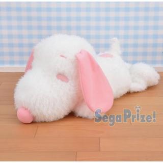 全新 日本 正版 景品 史努比 snoopy 粉紅色 特別色 限定 趴姿 娃娃 玩偶