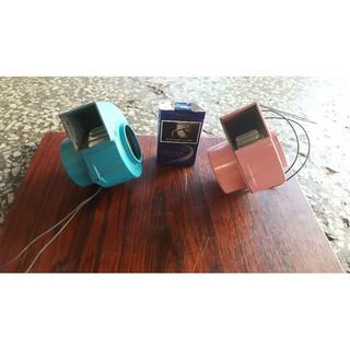 [多元化風扇風鼓]ORIX日製超小款桌上型風鼓(粉紅或水藍)14w  100v (不佔空間~辦公桌~冬天露營帳篷內送風)