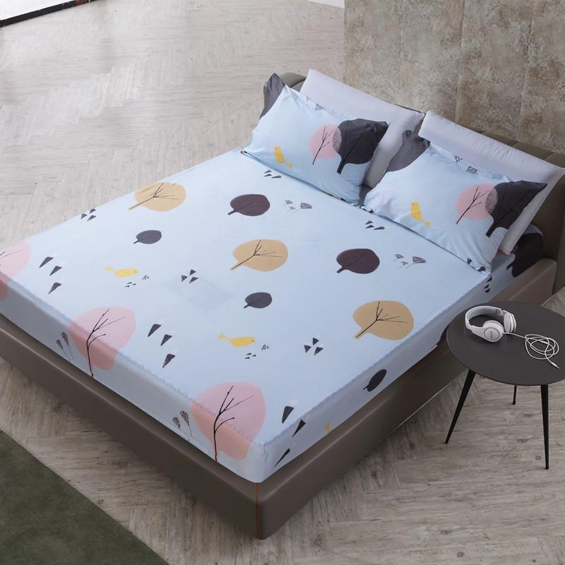 現貨 「嚮往A版」↘ 100%防水 北歐 純色 日韓 素雅 宜家 簡約 單人 雙人 加大 超大 床包 可定製多個尺吋