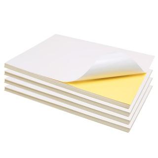 新款`滿199發貨~創易A4不干膠打印紙光面亞光面標簽貼紙空白書寫膠激光噴墨打印紙