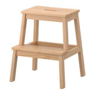 IKEA BEKVÄM 墊腳凳腳凳洗手台椅凳 白楊木 50公分 可用亮光漆上色