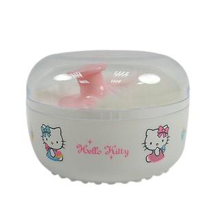 X射線【C007270】Hello Kitty 粉撲盒,刷具/粉撲/粉撲盒/爽身粉盒