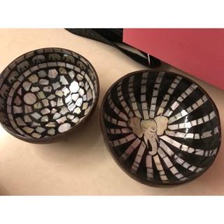 泰國購入 椰子殼製作的貝殼碗非常特別 椰子殼碗