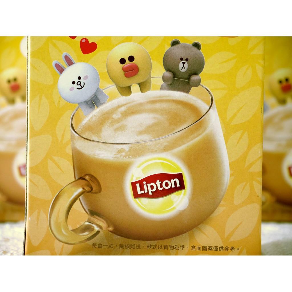 【EV story】LINE FRIENDS 立頓奶茶 熊大 兔兔 莎莉 公仔 杯緣公仔 杯緣公仔組 杯緣子 奶茶