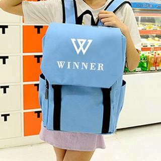 *新貨上市*winner同款雙肩包背包韓版學院風包包學生書包背包周邊男女純色包