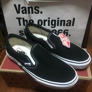 VANS Classic Slip-On Black 全新僅試穿