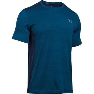 全新UNDER ARMOUR HG raid JACQUARD UA短袖上衣 深黑丈青色