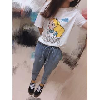【RubyBear】夏季必備韓版愛麗絲釘珠T恤