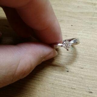 點睛品 900白金(鉑)鑽石戒指
