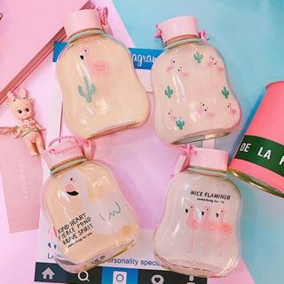 預購11韓國火鶴玻璃瓶/熊本熊玻璃瓶/熊大&熊大漢堡玻璃瓶/蛋黃哥玻璃瓶水瓶
