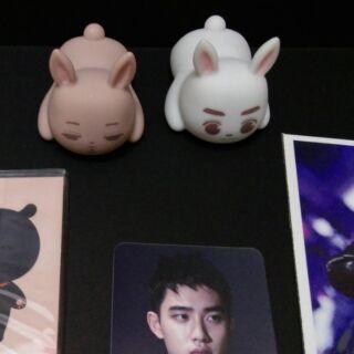 EXO 茶蛋 兔子公仔 金俊勉 金鍾仁