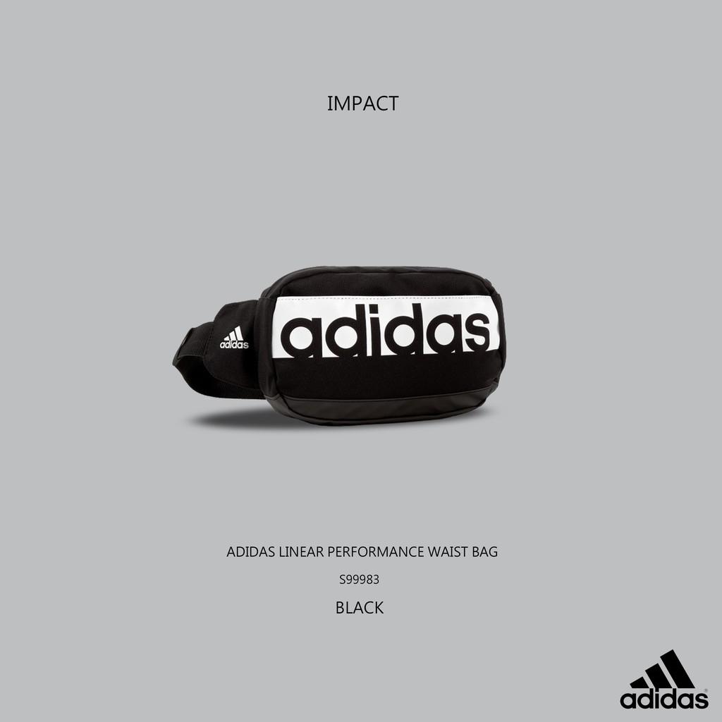 Adidas Linear Performance Waist Bag 黑 腰包 斜肩包 S99983 IMPACT