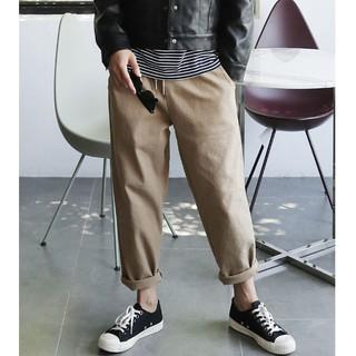 ~Seoul Korea ~無拘束好穿!正韓韓國製ZiniF 腰部鬆緊綁帶斜紋布料寬管闊腿