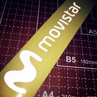 編A036 Movistar 貼紙 反光 西羅 AGV MM93 重車 賽車  賽道 LUBER TURBO SHOEI