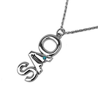 【刀劍神域】鑲鑽刀劍神域SAO標誌項鍊亮色吊飾鑰匙扣
