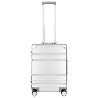 MINISO名創優品20寸全鋁鎂合金登機箱(銀色)