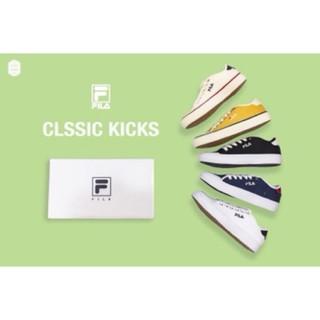 免運 Kiitos Store Fila 帆布鞋 白 黑 深藍 米白 黃色 女鞋
