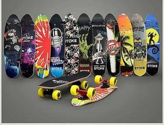 小魚板滑板26*7英寸 含運進口楓木板面A級楓木小魚四輪滑板一層染色抗壓強