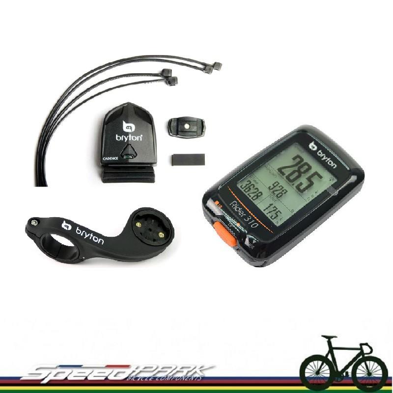 【速度公園】Bryton Rider 310C 主機+ANT+踏頻感測器+延伸座 GPS衛星定位 套裝組 繁體中文 夜間