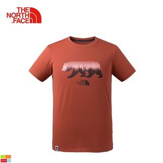 The North Face北面男款紅色舒適透氣短袖T恤 3CJXZBN 北臉短袖T上衣