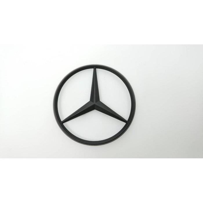 圓夢工廠 賓士 Benz 星標 7公分 10公分 後車廂 尾門 改裝 烤漆黑 消光黑 標誌 logo mark  廠標